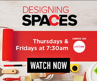 Advertisement for Designing Spaces, airing on Lifetime